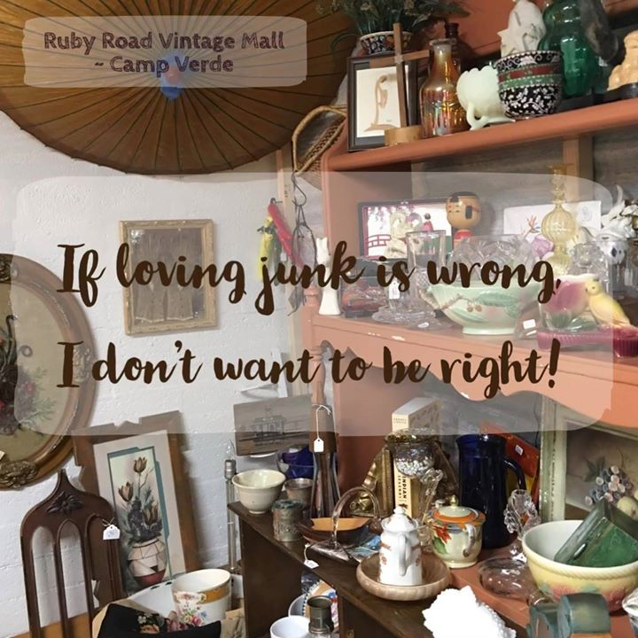 If loving junk is wrong - we don't want to be right- Ruby Road